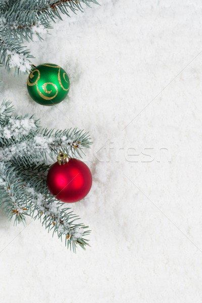 Pine tree decorated with Christmas Ornaments  Stock photo © tab62
