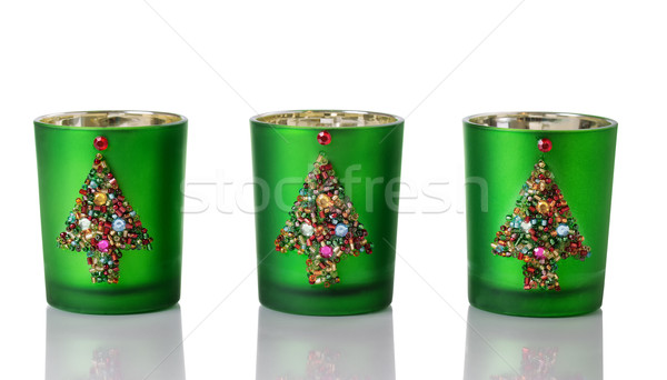 Christmas Candle Holders on white  Stock photo © tab62