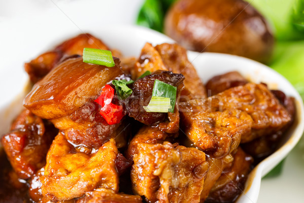 Chinese tofu and meat dish ready to eat Stock photo © tab62