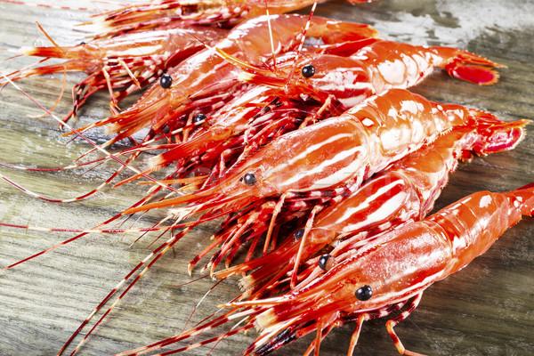 жить креветок рыбалки док влажный Сток-фото © tab62