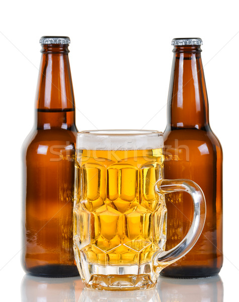 Freshly poured beer ready to drink   Stock photo © tab62