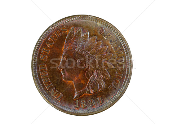 Indian Head Cent in mint state condition isolated on white  Stock photo © tab62
