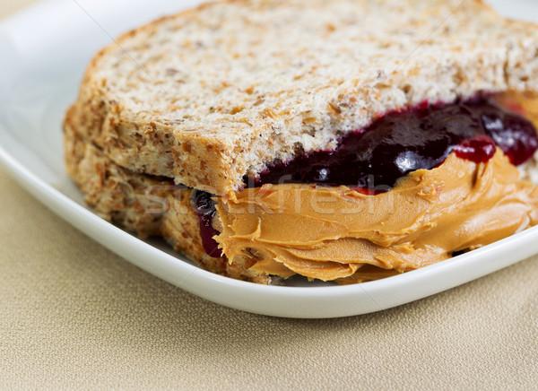 Stock photo: Tasty Creamy Peanut Butter and Jelly Sandwich