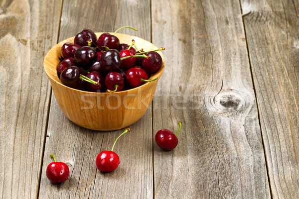 Whole cherries freshly picked and ready to eat  Stock photo © tab62