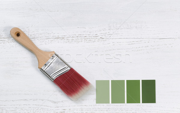 New hand paint brush and future color samples  Stock photo © tab62