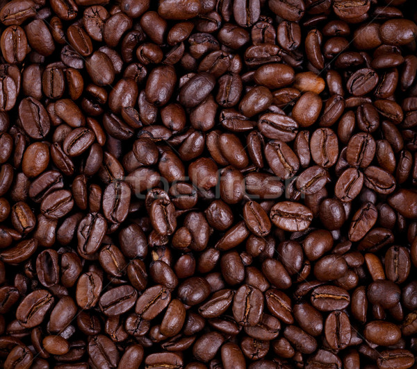Freshly roasted coffee beans in fill frame layout Stock photo © tab62