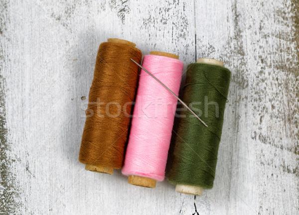 Fio rústico branco madeira três diferente Foto stock © tab62