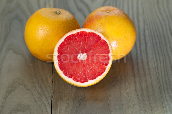 Sliced and Whole Ruby Red Grapefruits Stock photo © tab62