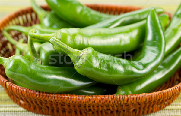 Freshly picked Korean Peppers in Basket  Stock photo © tab62
