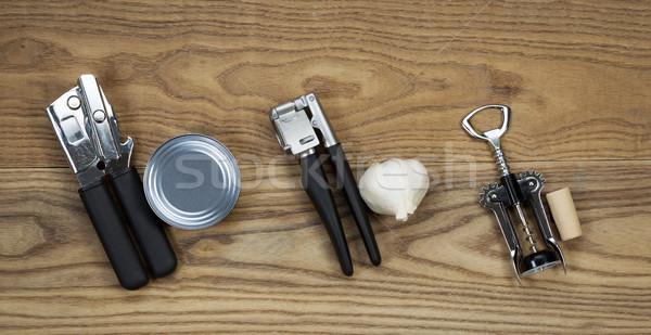 Básico cozinha ferramentas madeira ver Foto stock © tab62