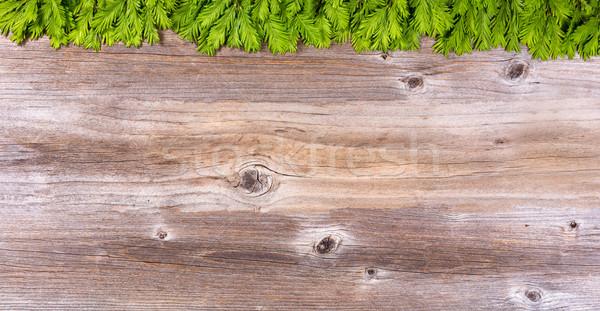 новых деревенский древесины совета Сток-фото © tab62