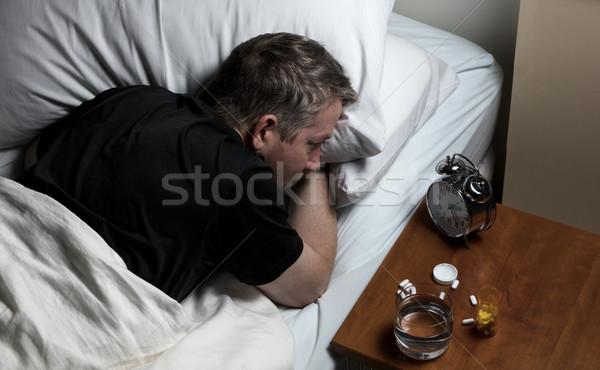 成熟した男 難しさ 下がり 1泊 目が覚める ストックフォト © tab62