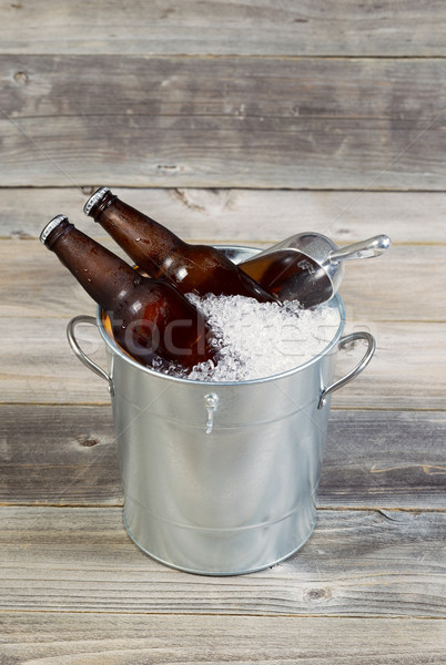 Bucket filled with Ice and Beer  Stock photo © tab62