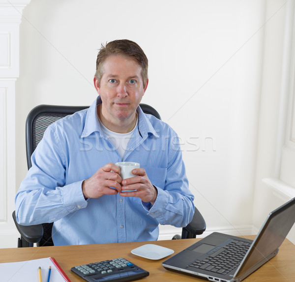 Taking Coffee Break during work hours Stock photo © tab62