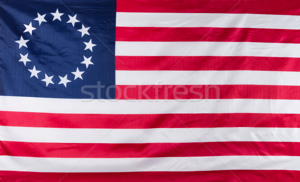 13 star flag for the original colonies of America Stock photo © tab62