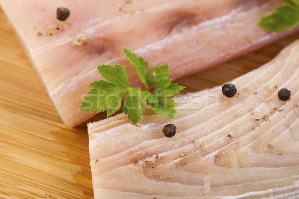 White Fish Fillets Seasoned for Cooking  Stock photo © tab62