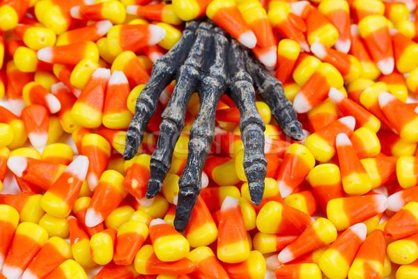 怖い スケルトン 手 外に キャンディ ストックフォト © tab62