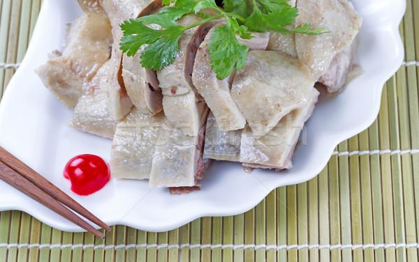 Fresh Chinese cuisine chicken  Stock photo © tab62