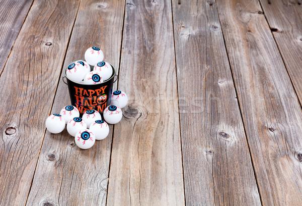 Cubo halloween temporada rústico madera metal Foto stock © tab62