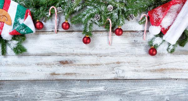 ストックフォト: クリスマス · 伝統的な · 赤