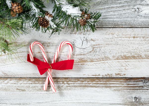 Рождества конфеты лук грубо Сток-фото © tab62