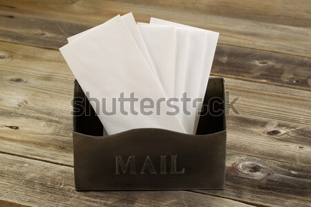 Old Mailbox filled with letters and opener  Stock photo © tab62