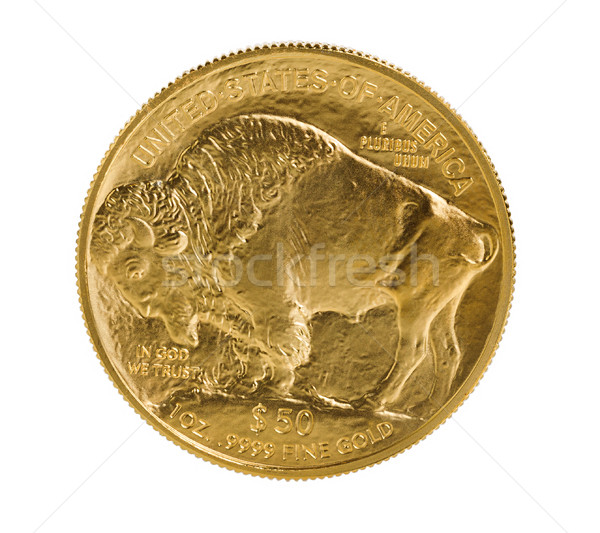 Fine gold Buffalo Gold Coin on white background  Stock photo © tab62