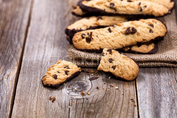 自家製 チョコレート チップ クッキー リネン ナプキン ストックフォト © tab62