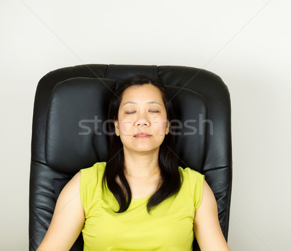 Mature Woman Relaxing in Massage Chair  Stock photo © tab62