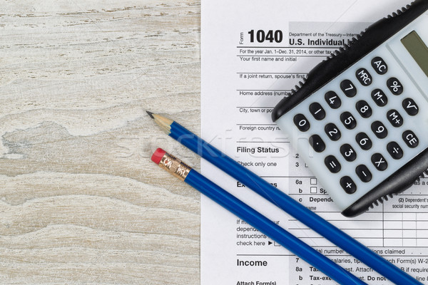 Tax Forms with business desktop objects  Stock photo © tab62