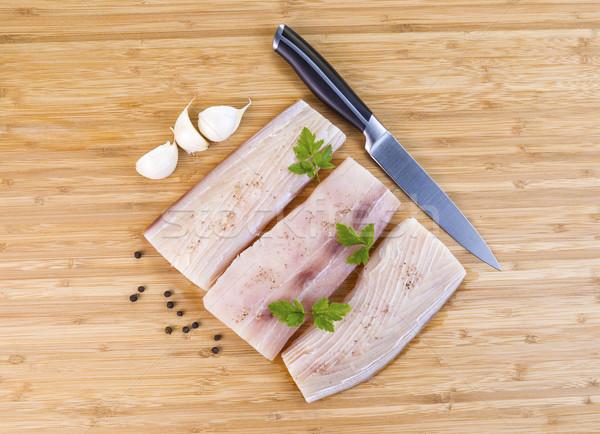 白 魚 準備 料理 水平な 写真 ストックフォト © tab62