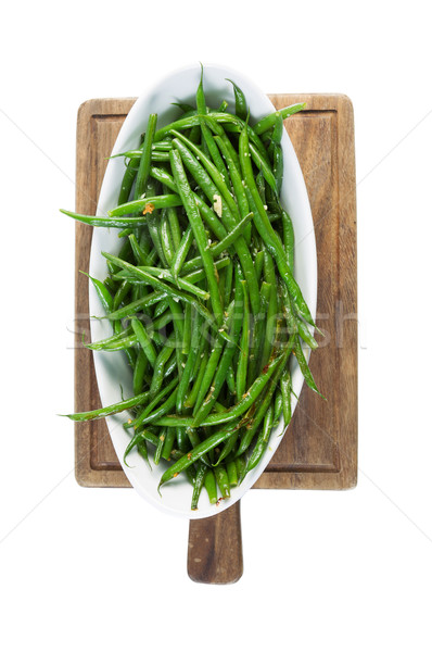 Freshly Cooked Green Beans isolated on White  Stock photo © tab62