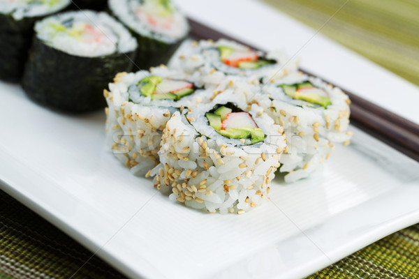 California Sushi Rolls ready to Eat  Stock photo © tab62