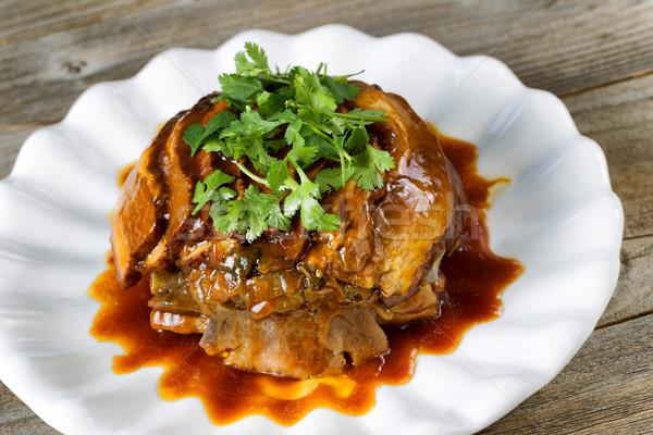 Carne de vacuno rebanadas perejil listo comer Foto stock © tab62