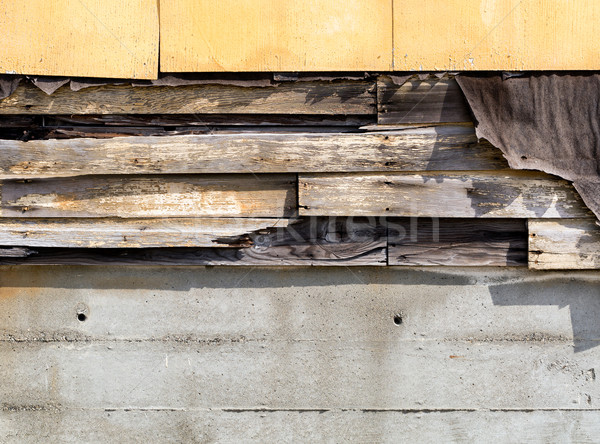 Asbestos siding falling apart due to age  Stock photo © tab62