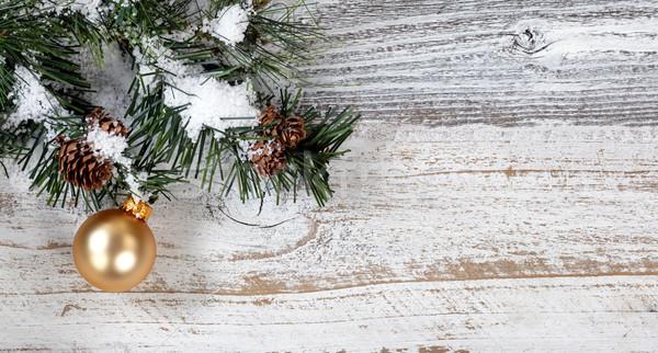 Рождества золото орнамент подвесной грубо Сток-фото © tab62