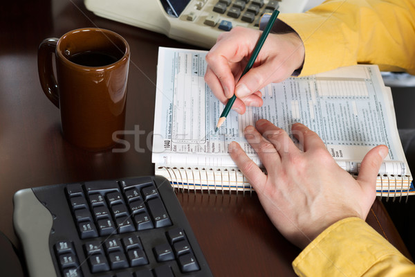 Filling out forms for Taxes  Stock photo © tab62