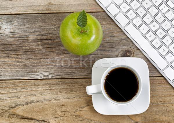 яблоко черный кофе школы Top мнение Сток-фото © tab62