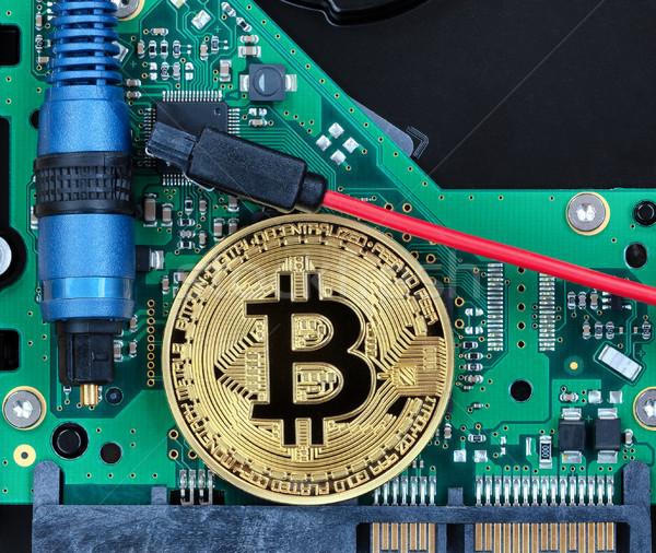 Bitcoinの コイン 回路基板 コンピュータ 繊維 ストックフォト © tab62