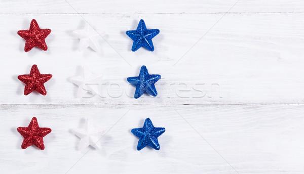 EUA férias estrelas branco cores Foto stock © tab62