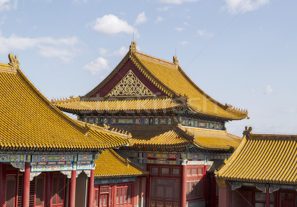 Temple Rooftops in Forbidden City  Stock photo © tab62
