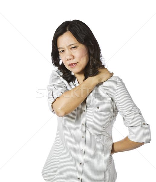Sebes izmok ázsiai hölgy megérint váll Stock fotó © tab62