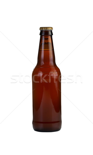Unopened Bottle of Beer Isolated on White Stock photo © tab62