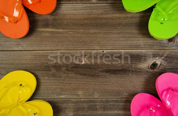 круга мнение новых сандалии деревенский Сток-фото © tab62