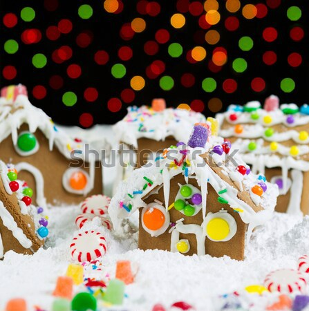 Gingerbread Houses Covered with Snow  Stock photo © tab62