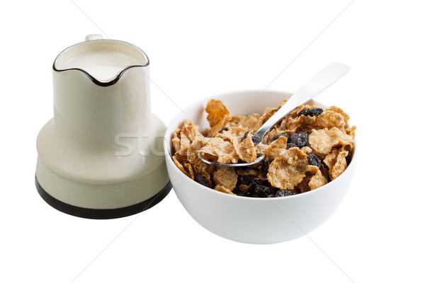 Cereal leite branco horizontal foto grão Foto stock © tab62