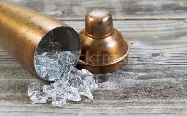Abierto metal beber mezclador lado hielo Foto stock © tab62