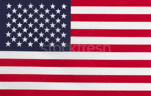 Zászló Egyesült Államok Amerika közelkép vízszintes elrendezés Stock fotó © tab62