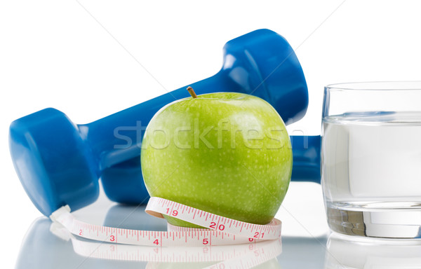 Fresh apple and water for diet  Stock photo © tab62