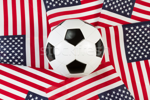 Soccer Ball with United States of America Flags  Stock photo © tab62